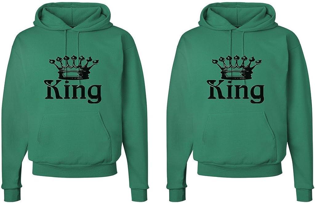 King and King Crowns FASCIINO LGBT Matching Gay Pride His /& His Couple Hooded Sweatshirt Set King Shirt #1: Small//King Shirt #2: XLarge Kelly Green