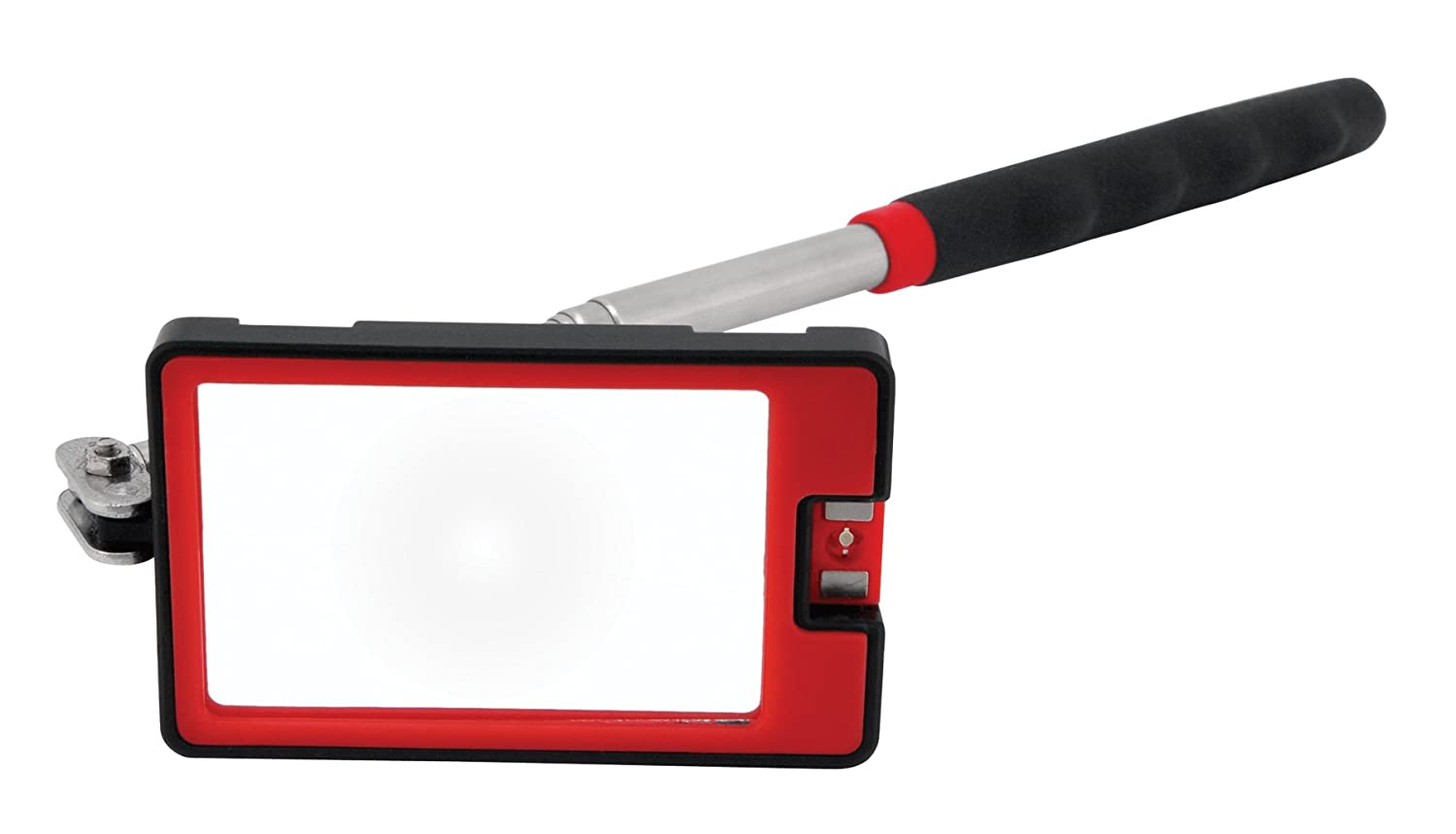 Performance Tool W9145 Rectangle Led Inspection Mirror and Pickup Tool 2 5 8 1 5 8 10 3 8 x 34