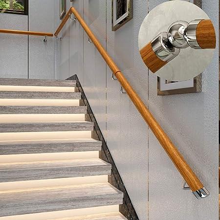 Barandilla de escalera antideslizante de madera, para interiores y exteriores, 1 pie-10 pies, para entretenimiento, pasillo, canal, apoyabrazos apto para villas, bares, madera, 1,52 m: Amazon.es: Hogar
