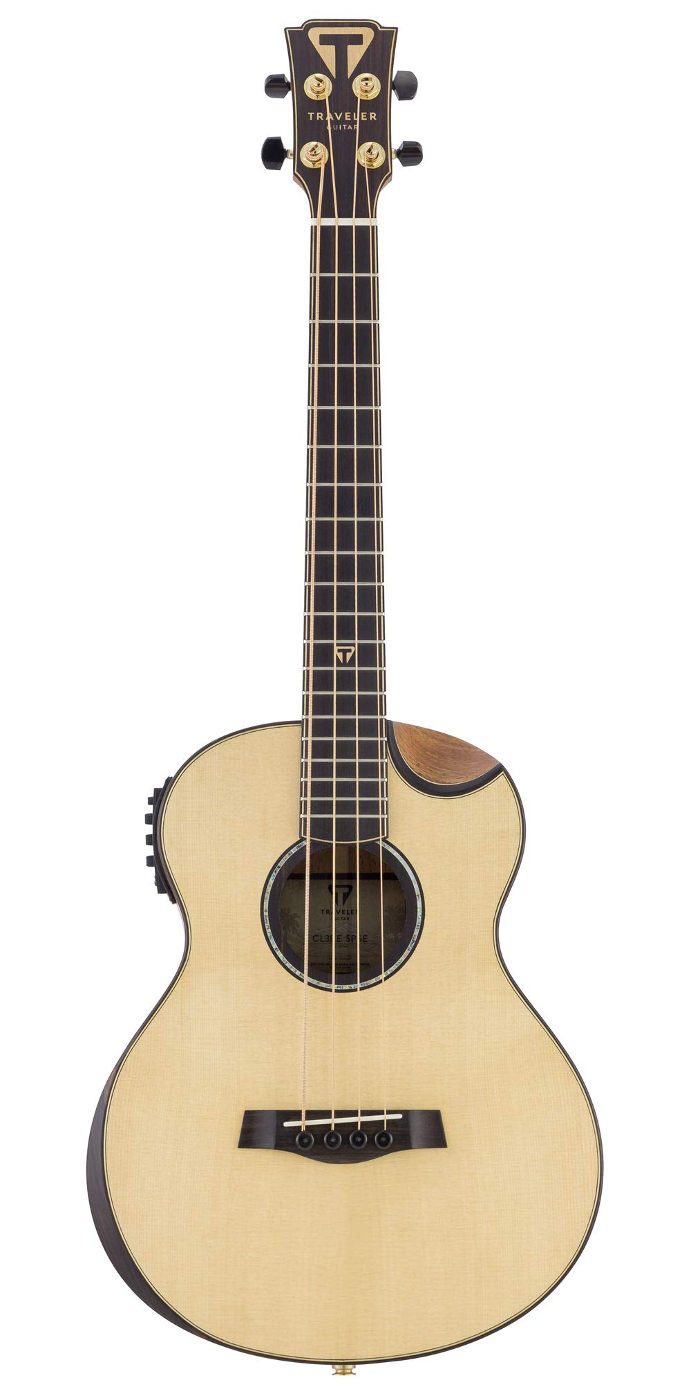 Traveler Guitar 4 String Acoustic-Electric Bass Guitar Right (CL3BE SPSE