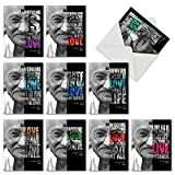 M3793OCB GANDHI LOVE QUOTES: 10 Assorted Blank All-Occasion Note Cards Featuring Inspirational Quotes to Express and Manifest Love in Daily Living, w/White Envelopes
