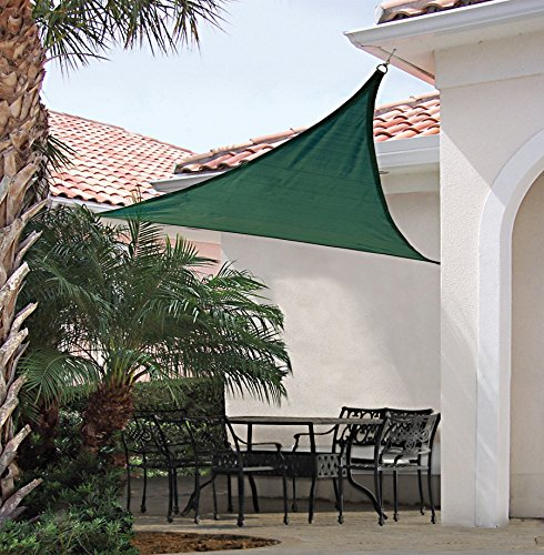 New 16.5 x 16.5 Triangle Sun Sail Shade Cool Color Green 16.5×16.5