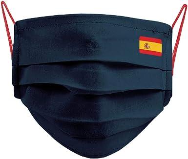 Cencibel Smart Casual Mascarilla Bandera España Pequeña y Gomas Laterales Rojas: Amazon.es: Ropa y accesorios