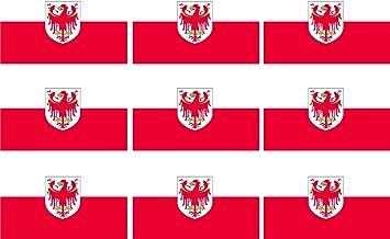 Etaia 2 5x4 Cm Mini Aufkleber Fahne Flagge Von Südtirol Italien Kleine Sticker Fürs Auto Motorrad Fahrrad Bike Europa Länder Auto