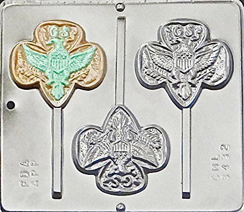 Girl Scout Lollipop Chocolate Candy Mold 3432