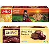 Unibic Choco Kiss and Scotch Finger, 350g Pack (2 Each)