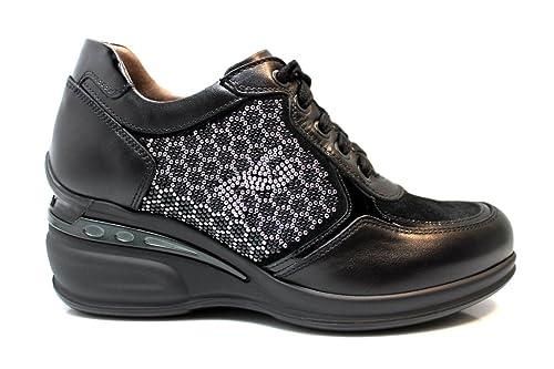 Nero Giardini P719211D Nero Piombo Sneakers Scarpe Donna