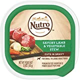 Nutro Wet Dog Food Cuts in Gravy Savory Lamb & Vegetable Stew, (24) 3.5 oz. Trays