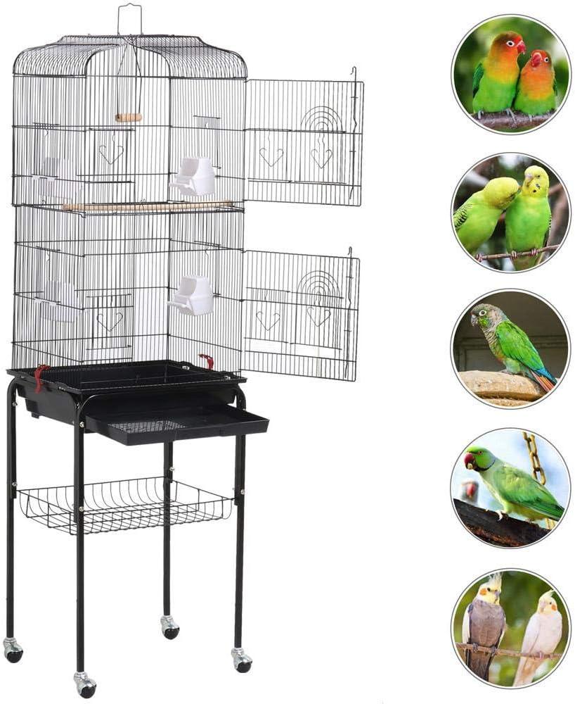 Yaheetech Jaula para Pájaros Jaula de Aves Canarios 2 Calor