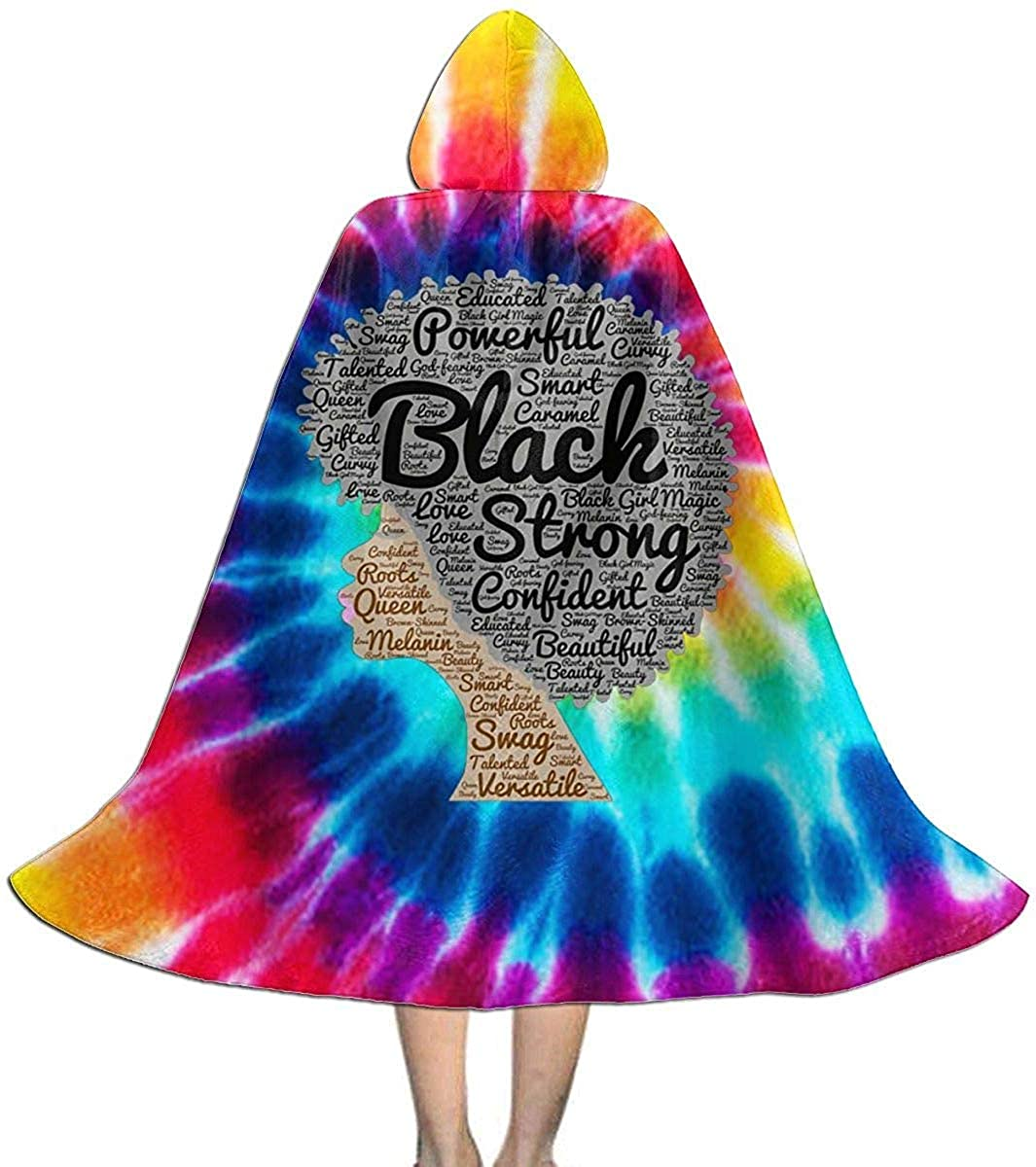 Amazon.com Black Girl Word Art Unisex Kids Hooded Cape