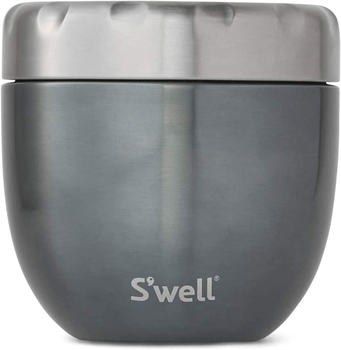 S'well Stainless Steel Food Bowls - 21.5 Oz - Blue Suede - Triple-Layered Vacuum-Insulated Containers Keeps Food and Drinks Cold for 11 Hours and Hot for 7 - with No Condensation - BPA Free