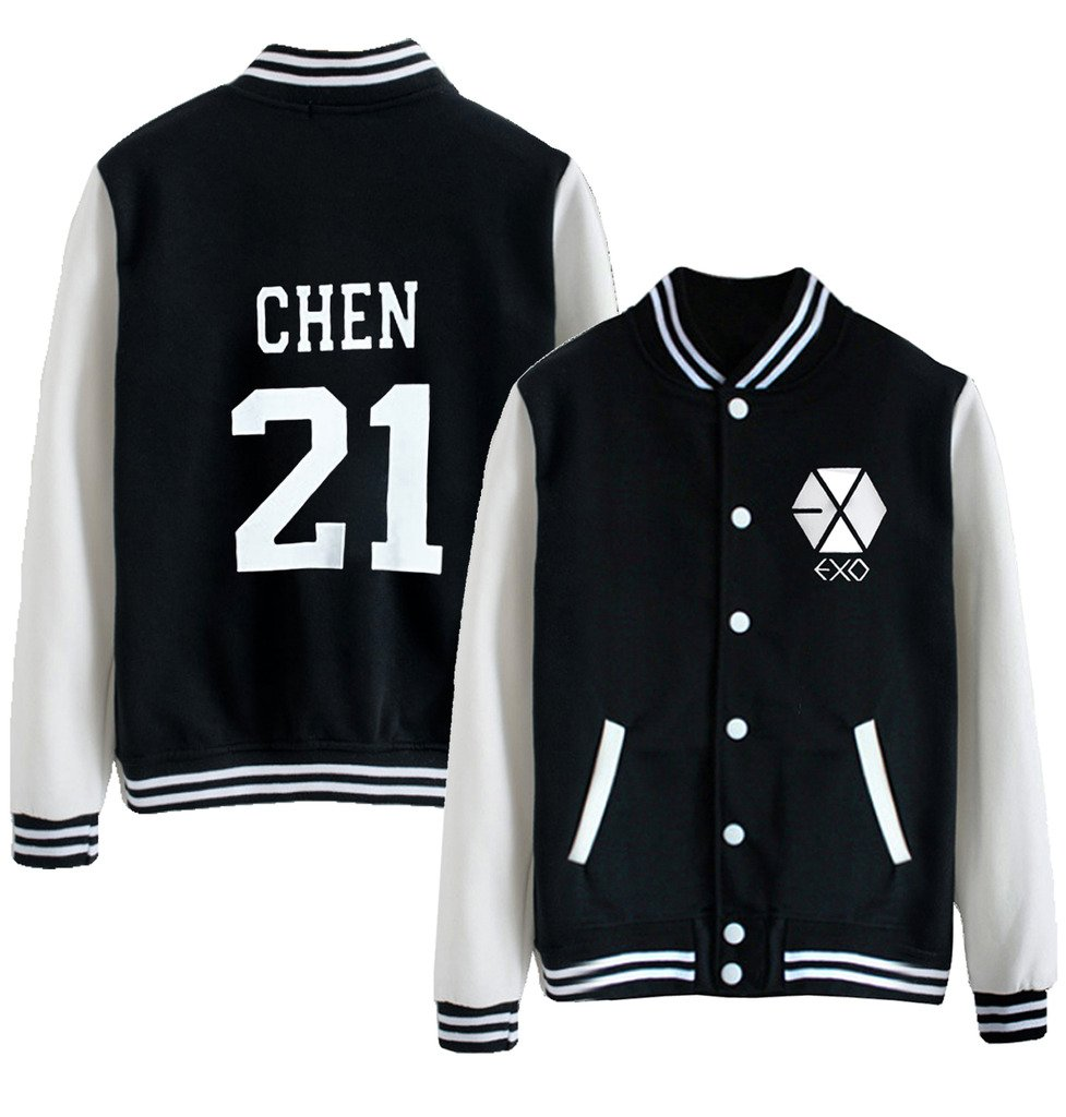 Kpop EXO EXO-M EXO-K Varsity Baseball Jacket Overcoat by Dolpind