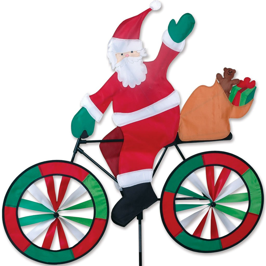 Amazoncom Premier Designs PD25996 Santa Bicycle Spinner Yard