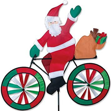 Amazon.Com : Premier Designs Pd25996 Santa Bicycle Spinner : Yard