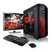 """Megaport Super Méga Pack - Unité Centrale pc Gamer Complet • Ecran LED 22"""" • Claviers de Jeu et Souris • AMD FX-6300 • GeForce GTX1050 • 8Go • 1To • Windows 10 Ordinateur de Bureau pc Gaming"""