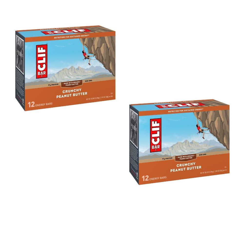 Clif Bar Energy Bar Crunchy Peanut Butter - 2.40 oz. 12 Bars - Pack of 2 by Clif Bar