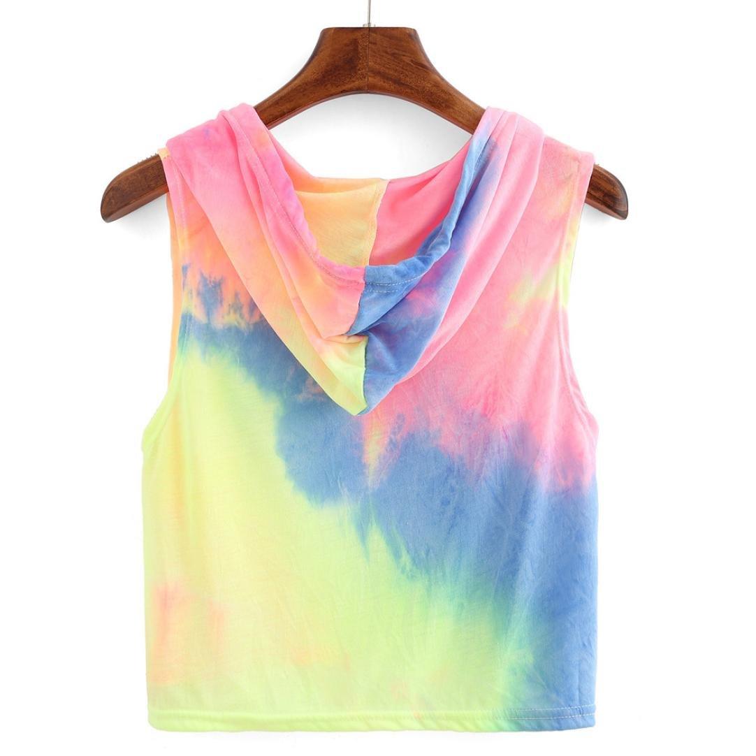 Mujeres Tops Rovinci Verano Camiseta Estampada sin Mangas con Estampado Multicolor y Estampado de Moda Sexy Colorido de Tops: Amazon.es: Ropa y accesorios