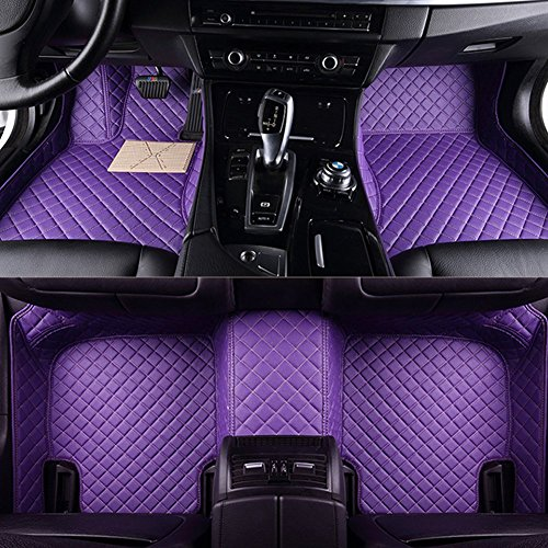 Follicomfy Car Floor Mats,Universal Size/Special Car Model Use For All Vehicles Auto Floor Mats/Set,Purple