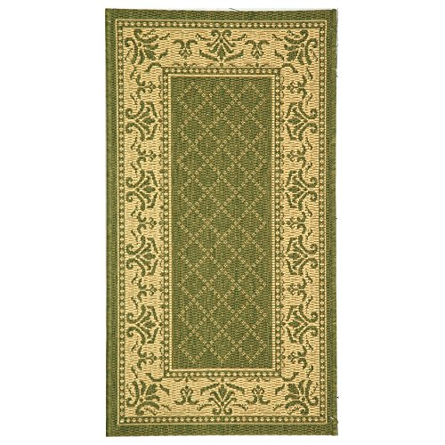 Safavieh Courtyard Collection CY0901-1E06 Olive and Natural Indoor/ Outdoor Area Rug (2'7