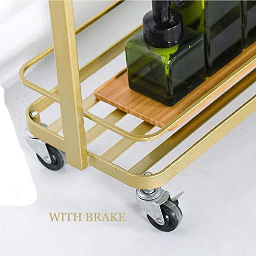 Amazon.com: LIULIFE Iron Storage Trolley for Living Room ...