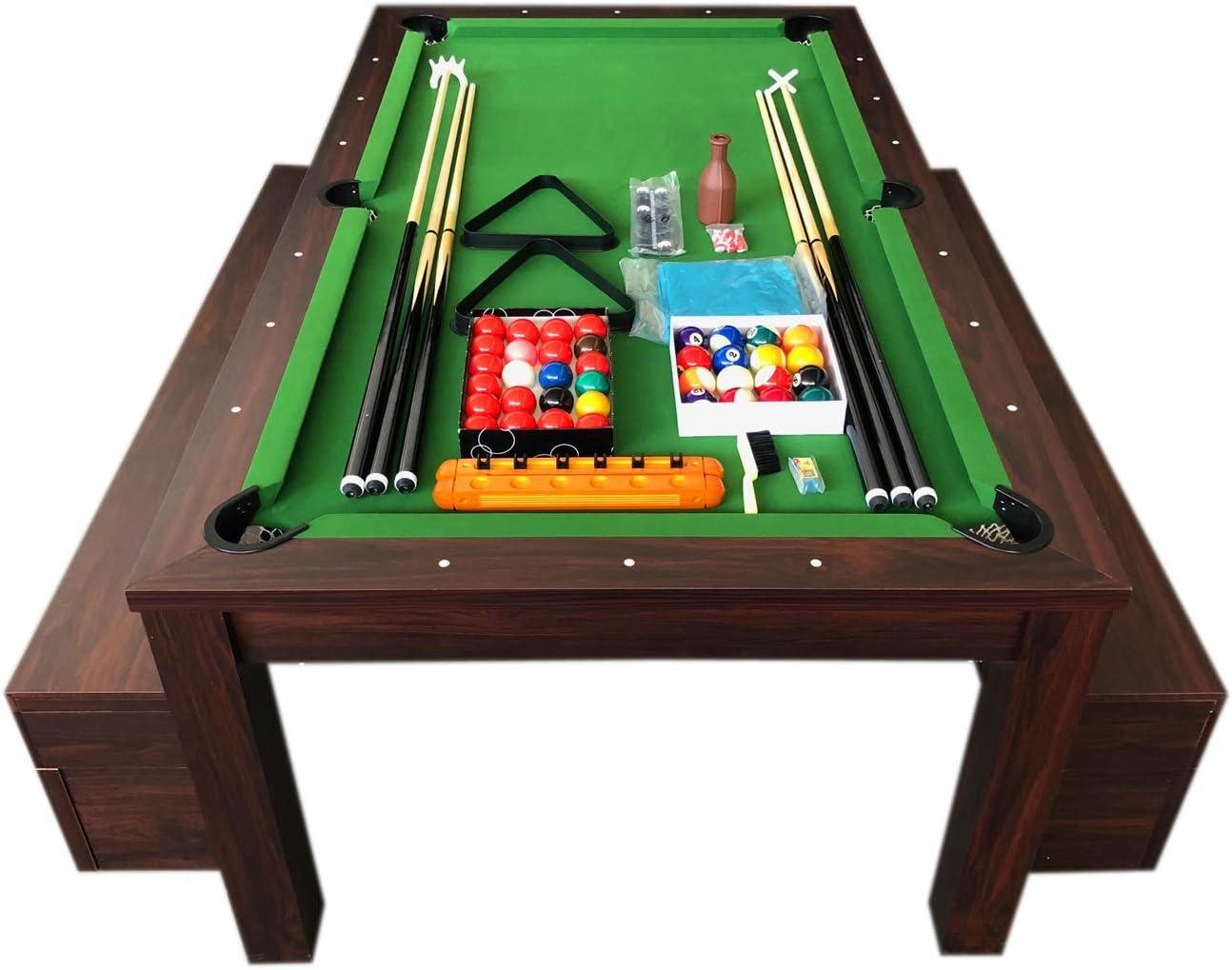 grafica ma.ro srl Billardtisch Billard 7 FT Billard-Spiel mit Tischplatte und Containerb/änke Neue