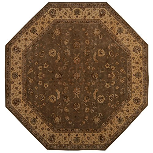 Nourison Nourison 2000 (AST2M) Olive Octagon Area Rug, 10-Feet by 10-Feet  (10' x 10')