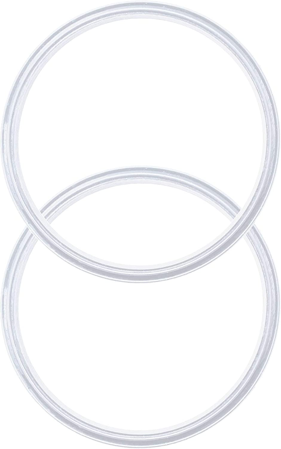 Pack of 2-12 oz Replacement Silicon Lid Ring, Gasket Seals, Lid for Insulated Stainless Steel Wine Tumblers, Cups Vacuum Effect, fits on Renowned Brands - White Model 2020…
