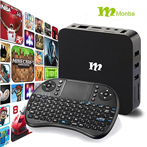 Monba W8 fully loaded TV Box Android 6.0 XBMC Amlogic S905X Quad Core 1G/8G support 4K Movie live tv and wifi with wireless keyboard (Android Xbmc Tv Box compare prices)