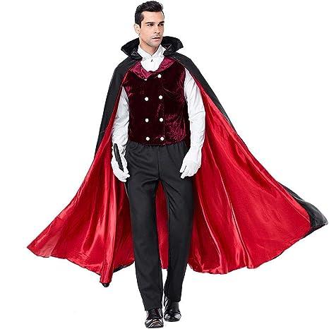 ZJJY Disfraz de Vampiro Masculino de Halloween Earl Dracula ...