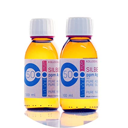 200ml Plata coloidal PureSilverH2O / 2 x Botellas (cada ...