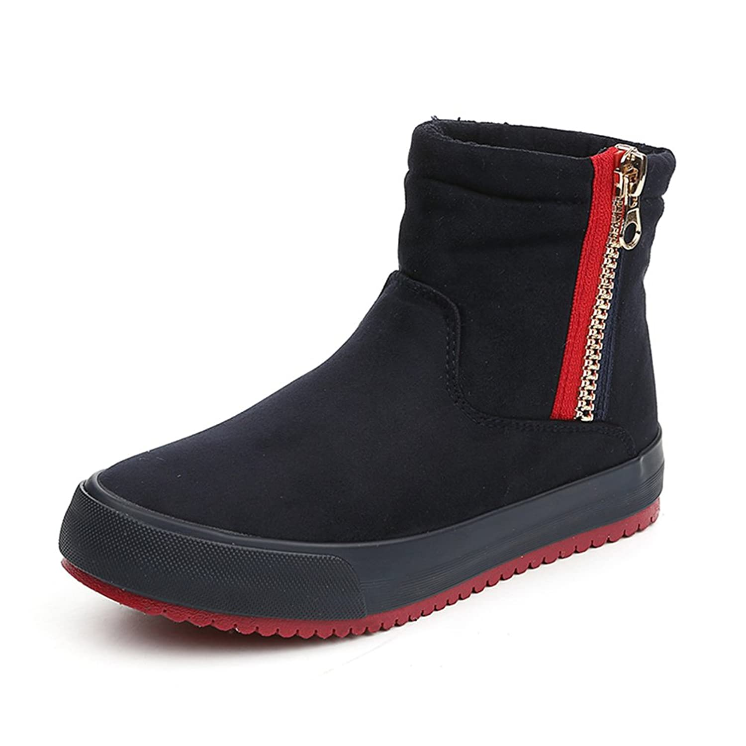 Tulids Zipper Suede Casual Cool Womens Snow Boot