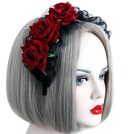 Guirlande Coiffure Dentelle Mode Gothique Lolita Pour Femme
