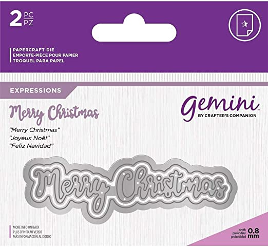 Happy Christmas Gemini Essentials Only Words Collection Craft Cutting Dies