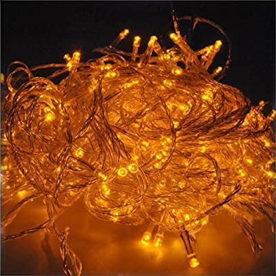 DODO 10M 100 LED String Fairy Light for Wedding Christmas and Party (Yellow with Tail Plug)