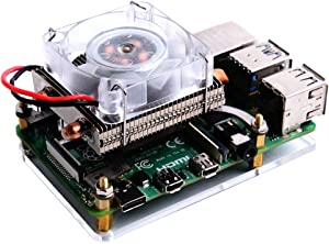 Geekworm Raspberry Pi Ice Tower Cooler, Raspberry Pi 4B/3B+/3B Ice Tower CPU Cooling Fan
