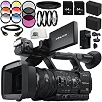 Sony HXR-NX5R PAL NXCAM Professional AVCHD Full HD Wifi Camcorder with Built-In LED Light 12PC Accessory Bundle - Includes 2x 64GB SD Memory Cards + 2 Replacement Batteries + MORE