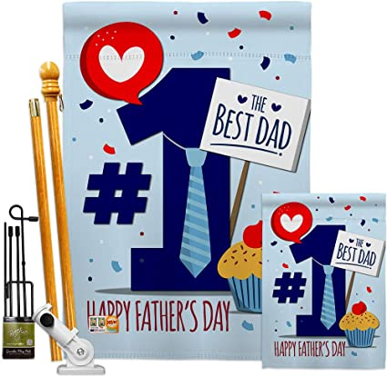 Amazon Com Number 1 Dad Garden House Flag Kit Family Father S Day Daddy Papa Grandpa Best Parent Sibling Relatives Grandparent Decoration Banner Small Yard Gift Double Sided Made In Usa 28