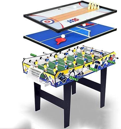 Combinación de Juegos de Mesa for niños 4 en 1 Combo Mesa de futbolín Juego Multi
