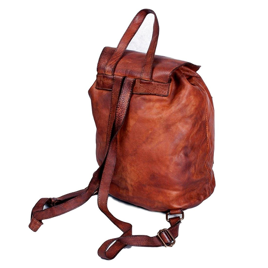 Backpack Soft Leather 31x21 H37 cm MICHELANGELO ASSISI Michelangelo Genuine Leather Calf-Skin Italy