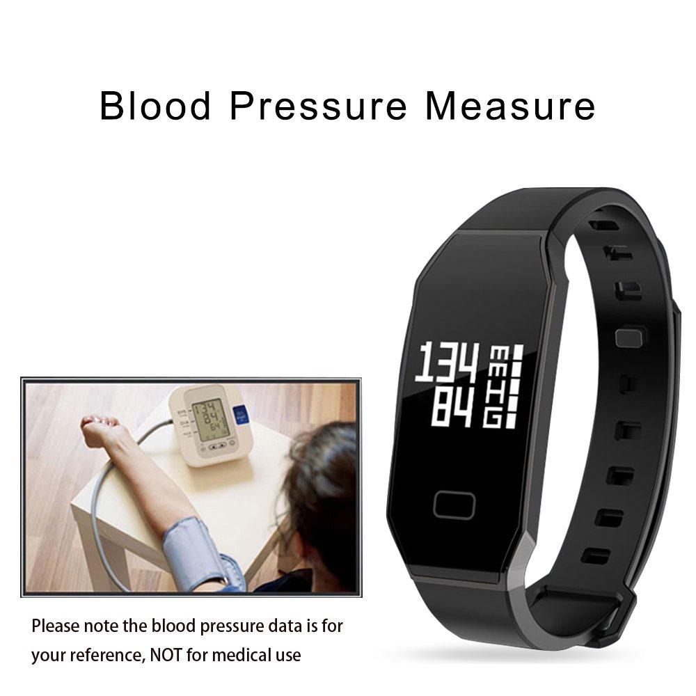 Pulsera Actividad de la Aptitud con el Monitor del ritmo cardíaco, bluetooth elegante Pulsera impermeable Perseguidor de la actividad del podómetro del ...