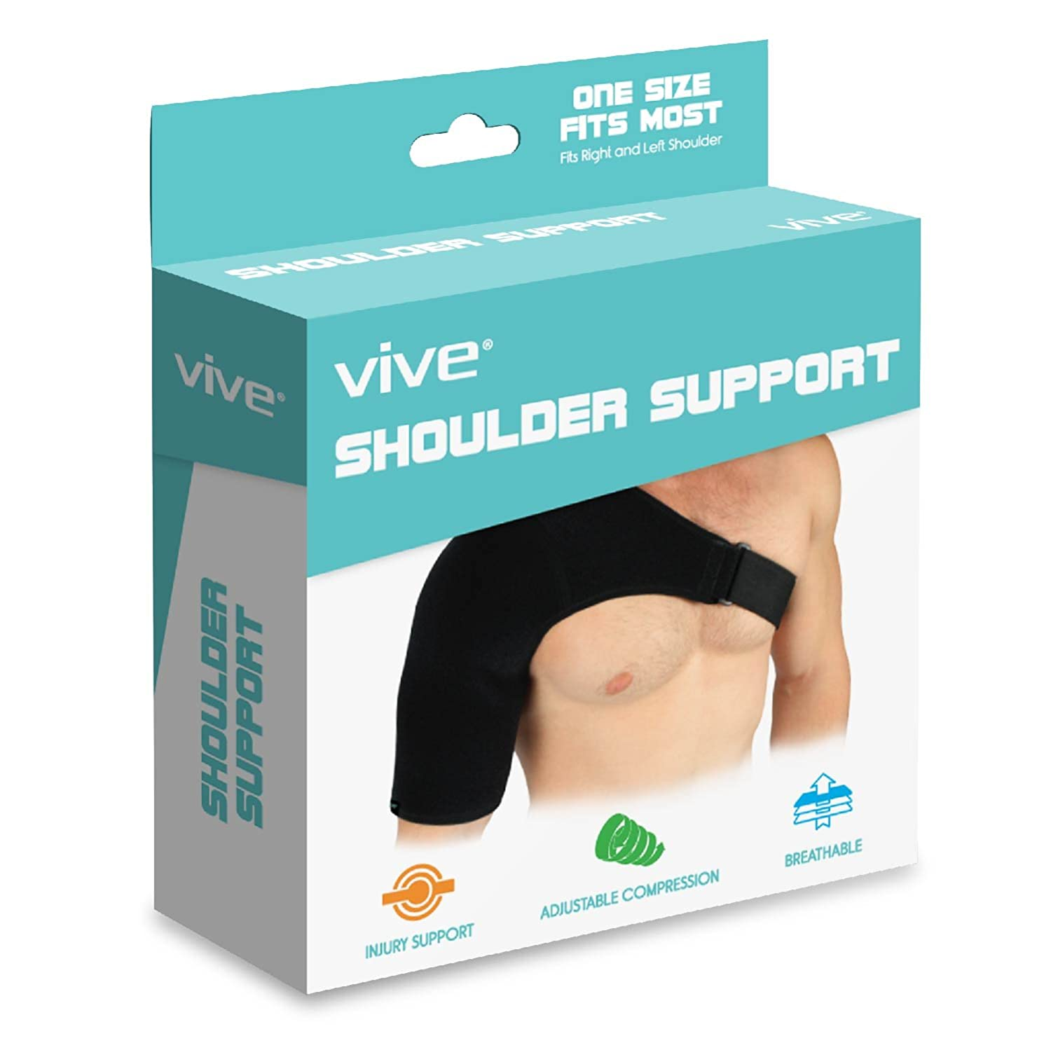 amazon com shoulder brace by vive rotator cuff support for