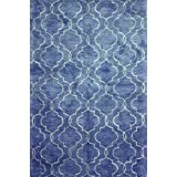 Bashian GREENWICH HG266 Collection Hand Tufted Wool  amp; Viscose Area Rug, 5.6 #39; x 8.6 #39;, Den