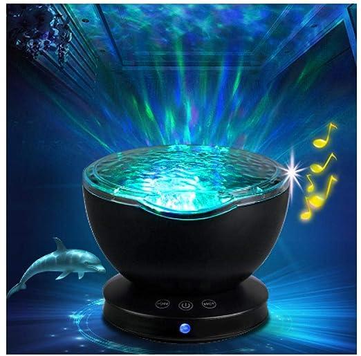 Ambiental estrella Proyector Ocean Wave Sleep moon lamp USB Night ...