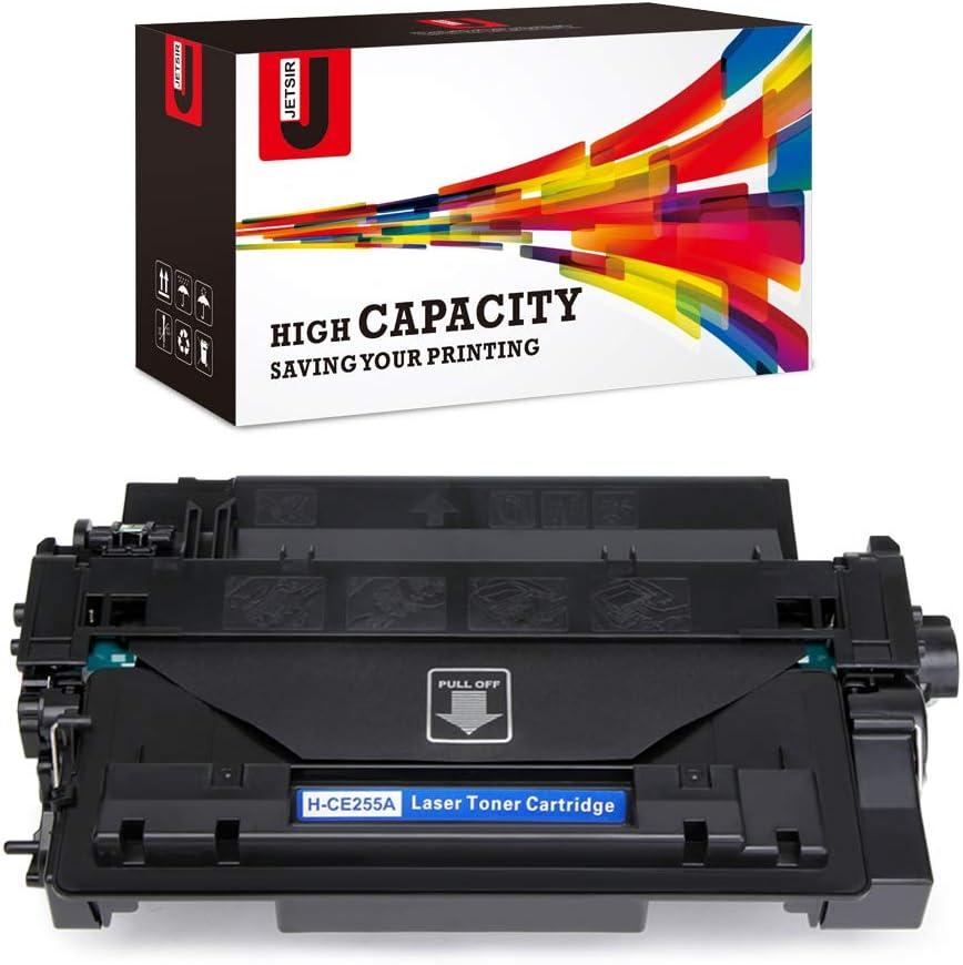 JetSir Compatible Toner Cartridge Replacement for HP 55A CE255A 55X CE255X,Use for HP Laserjet P3015dn P3010 P3015d P3015x P3015 P3015n HP Laserjet Pro 500 MFP M521dn M525dn M521dw M525c Printer