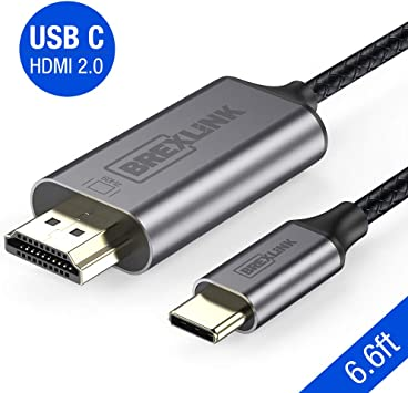 Dell XPS Samsung Galaxy S10//S9 Surface Book 2 BrexLink USB Type C//Thunderbolt 3 to HDMI 2.0 Cable for MacBook Pro//Air//iPad Pro and More 2018 4K 60Hz USB C to HDMI Cable Adapter 6ft Note 10//9