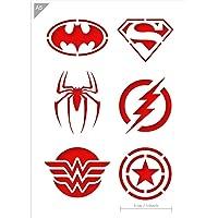 QBIX Plantilla de superhéroe - Superman, Batman, Spiderman