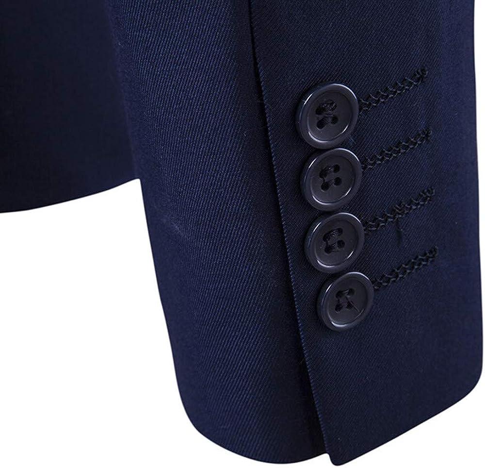 Mens Suit Slim 3-Piece Suit Blazer Business Wedding Party Jacket Vest /& Pants JSPOYOU Mens Coats Jackets
