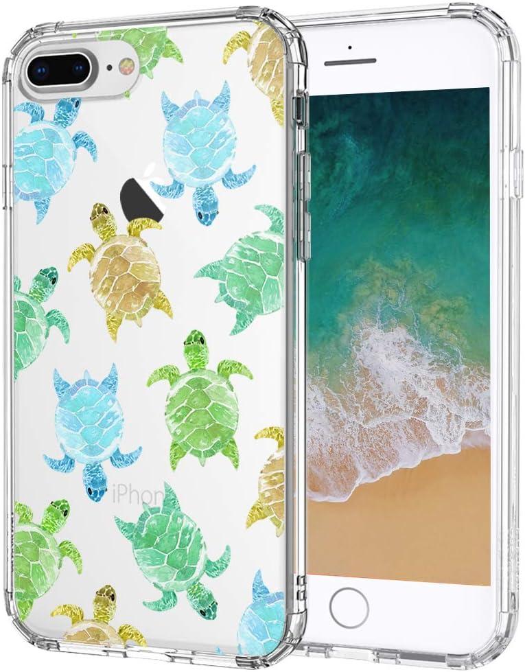 MOSNOVO iPhone 8 Plus Case/iPhone 7 Plus Case, Sea Turtle Pattern Clear Design Printed Transparent Plastic Hard Back Case TPU Bumper Protective Case Cover for Apple iPhone 7 Plus/iPhone 8 Plus
