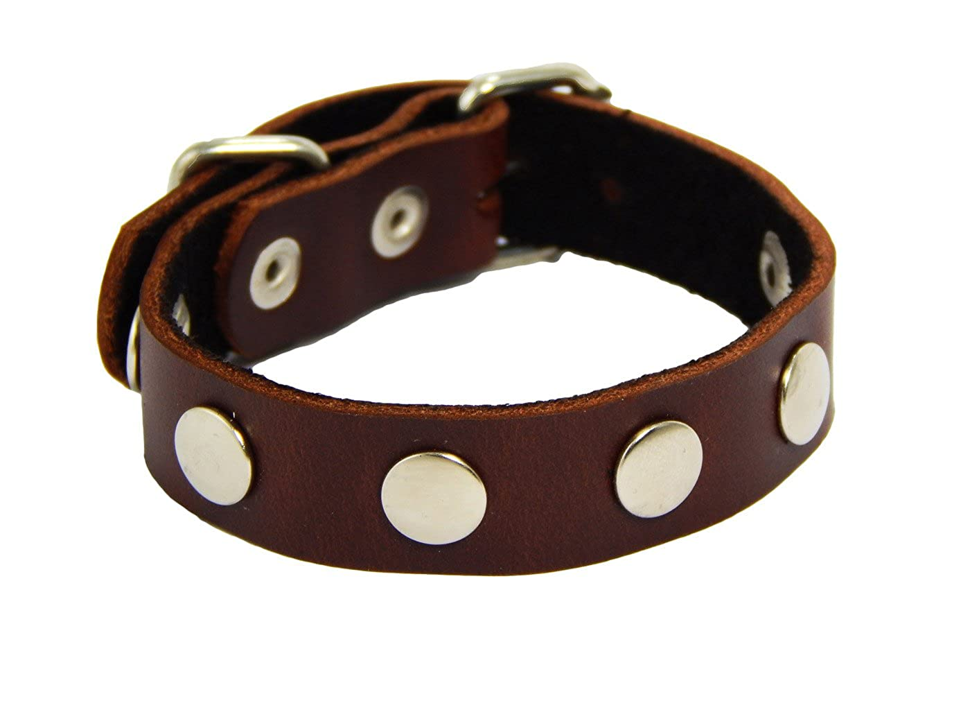 BrownBeans, Casual Wear Fashion Buckle Women Boys Studded Leather Bracelet (CA-LBCT12012) Casual Wear Fashion Buckle Women Boys Studded Leather Bracelet (CA-LBCT12012) (Brown)