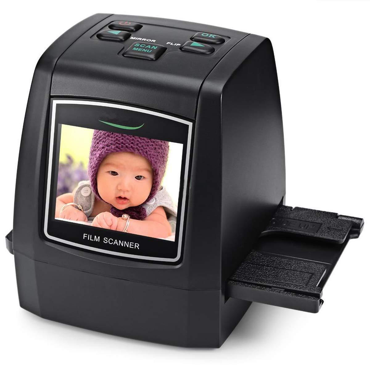 110 Film Scanner for 35mm Film Slides and Negatives 126 Film 22MP Max 135 Film 14 Megapixel Film Scanner to Convert Film Negatives and Photo Slides to JPG Digital Files